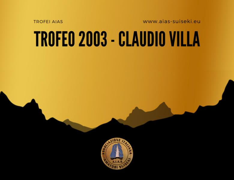 Trofeo AIAS 2003 – Claudio Villa